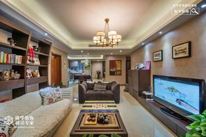 现代简约风格-龙湖世家-三室两厅-140平米-装修实景效果图
