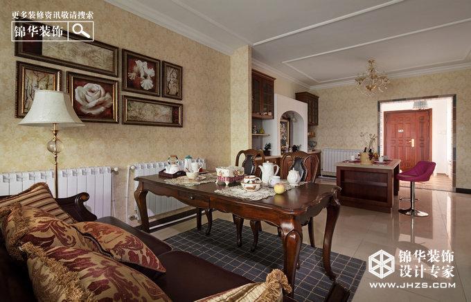 美式风格-滨湖花园-三室两厅-140㎡-装修实景效果图