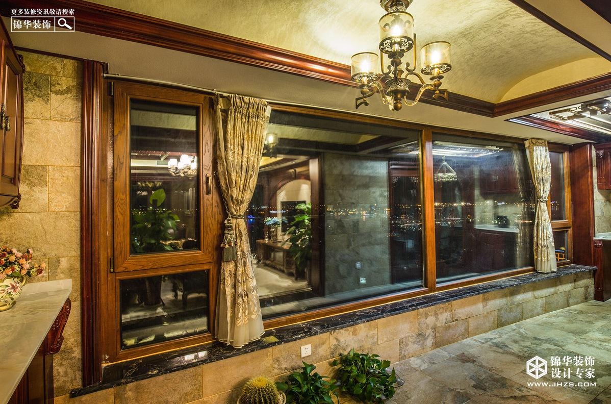 翠湖御景140平  美式风格装修-三室两厅-美式田园