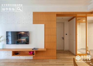现代简约风格-滨湖花园-三室两厅-140平米-装修实景效果图