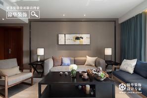 现代简约风格-沛县金地御园-三室两厅-160平米-装修实景效果图