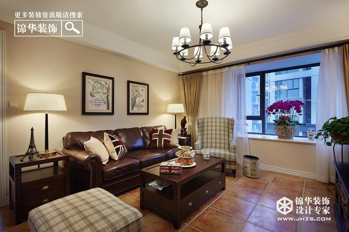 简约美式风格-莱福花园-三室两厅-148㎡-装修实景效果图