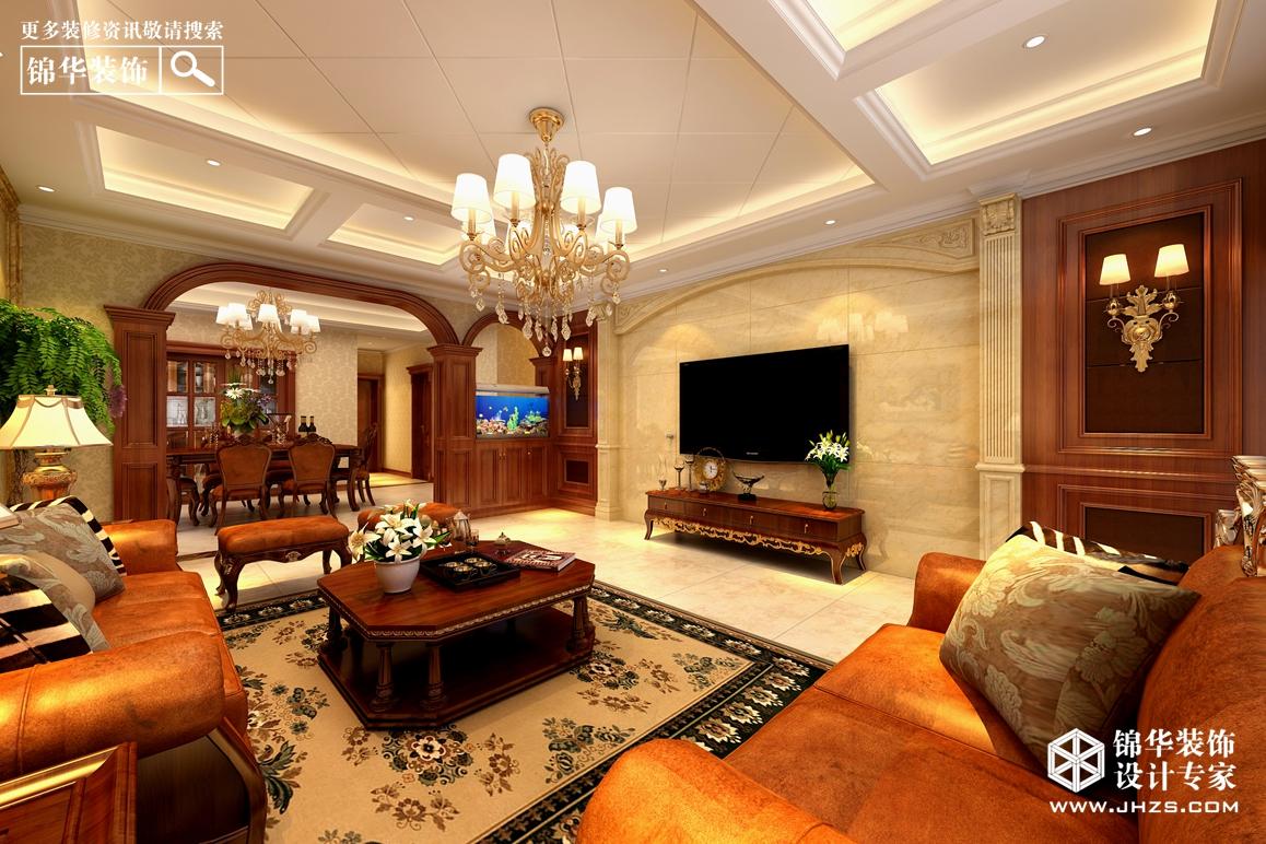 霖雨山庄经典美式装修-三室两厅-美式田园