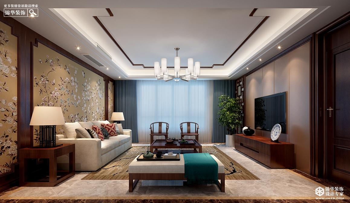 新中式风格-东方润园-别墅-360㎡-装修实景效果图