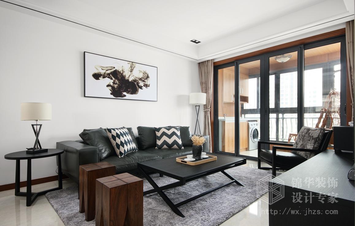 碧桂园97平三室两厅一卫现代简约风格