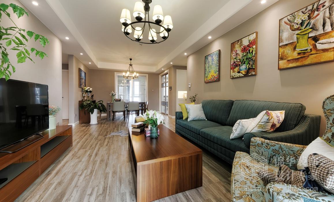 时代上城127平三室两厅一卫现代混搭风格