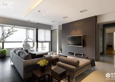 新中式风格-新城金郡-三室两厅-143㎡-装修实景效果图