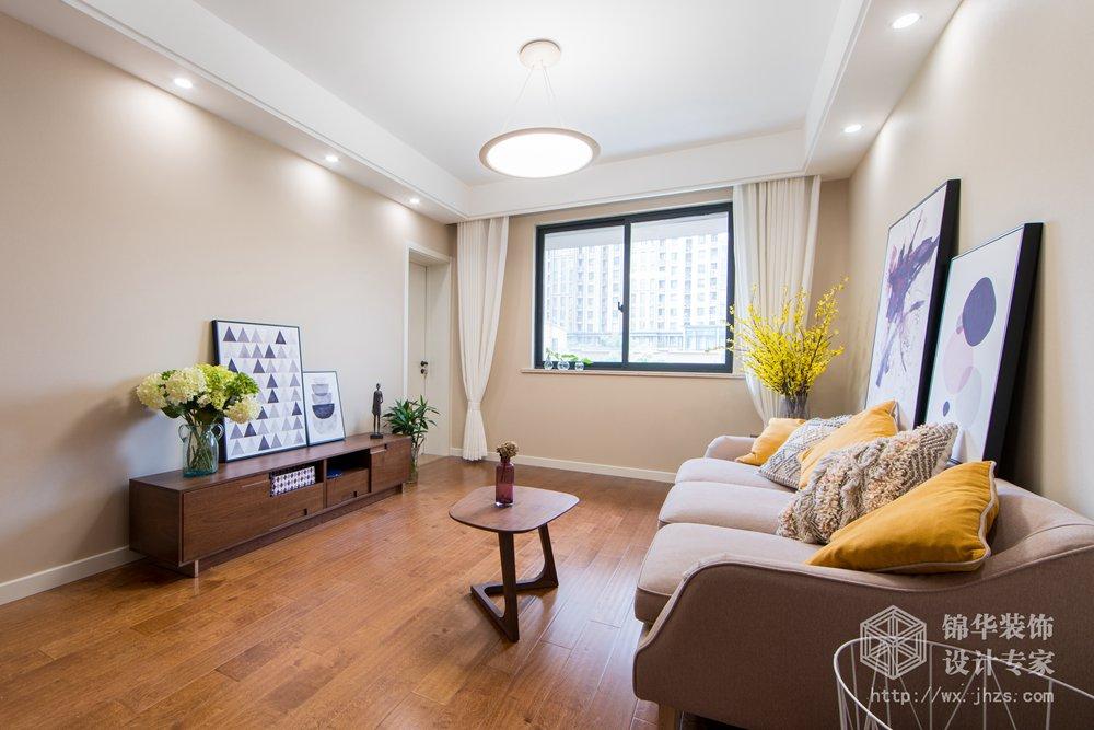 长江国际泓园89平 两室两厅一卫简约风实景图