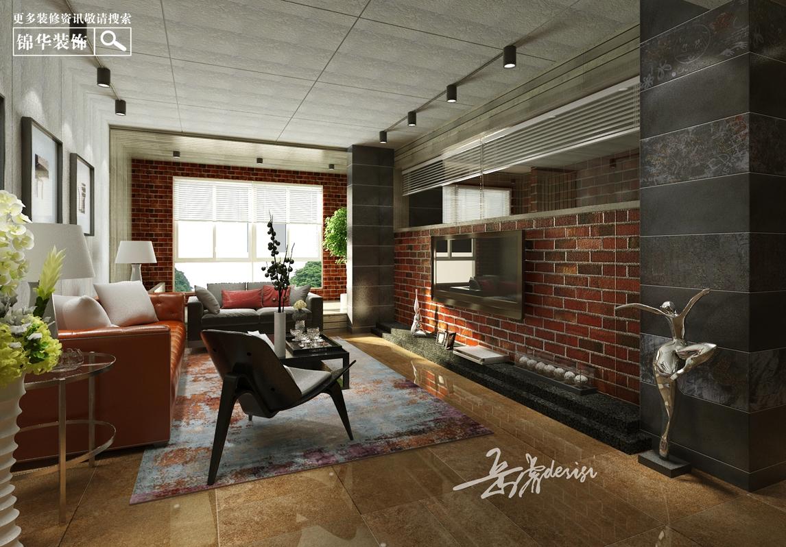 紫金东郡142平美式工业风装修-三室两厅-简美