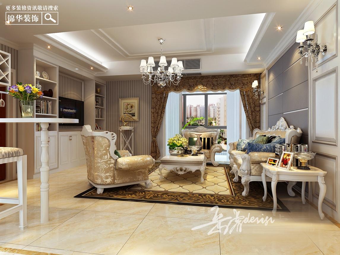 雍景新城150平现代欧式装修-三室两厅-欧式古典