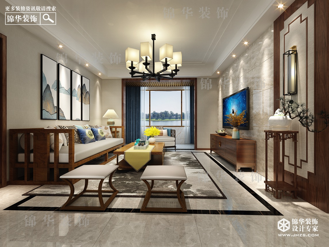 南湖尚苑 100㎡ 新中式风格
