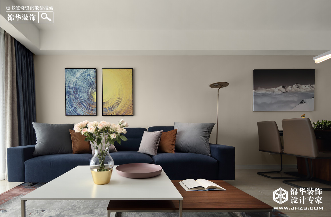 永恒与一日-皇册家园装修-三室两厅-现代简约