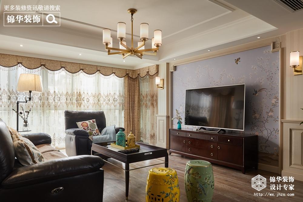 锦翠嘉苑130平小美风格实景图装修-三室两厅-简美