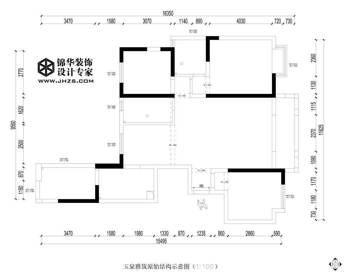 玉泉雅筑360全景 11号楼  137㎡  现代中式风格装修-三室两厅-新中式