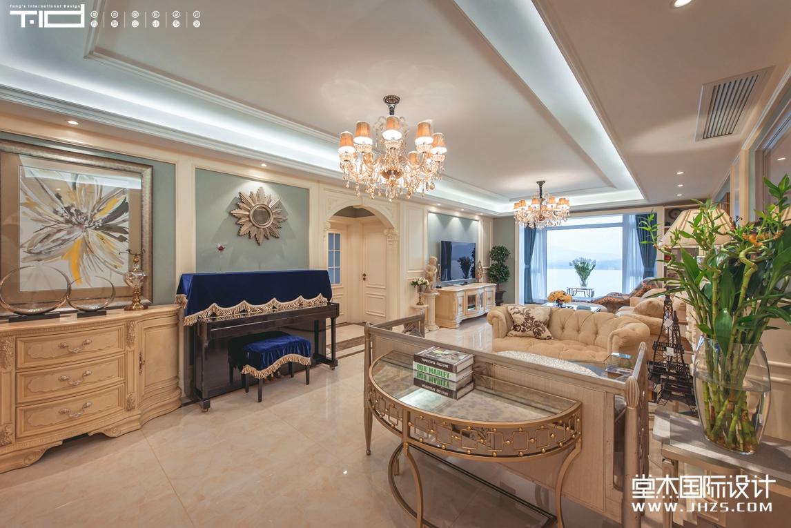 滨湖花园2号楼实景  140㎡  欧式风格装修-三室两厅-欧式古典