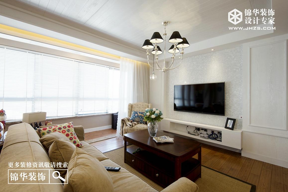 简约美式-玫瑰花园- 三室两厅-155㎡装修-三室两厅-美式田园