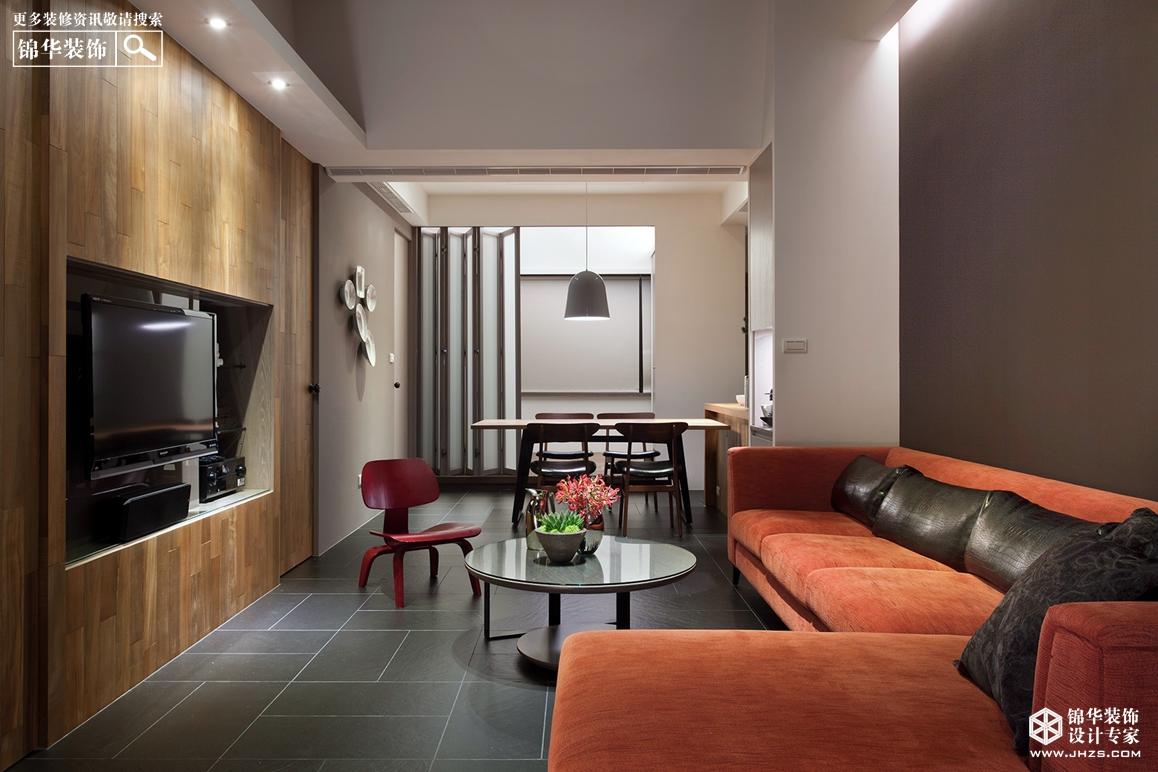 现代简约风格-滨湖花园-三室两厅-130㎡-装修实景效果图