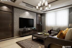 新中式风格-锦绣湖畔-三室两厅-130㎡-装修实景效果图