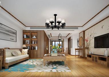 新中式-孔雀城-三室两厅-150㎡