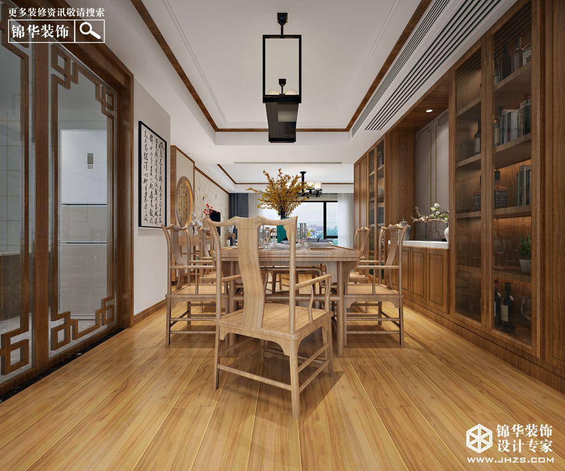 新中式风格-孔雀城-三室两厅-150㎡-装修实景效果图装修-三室两厅-新中式