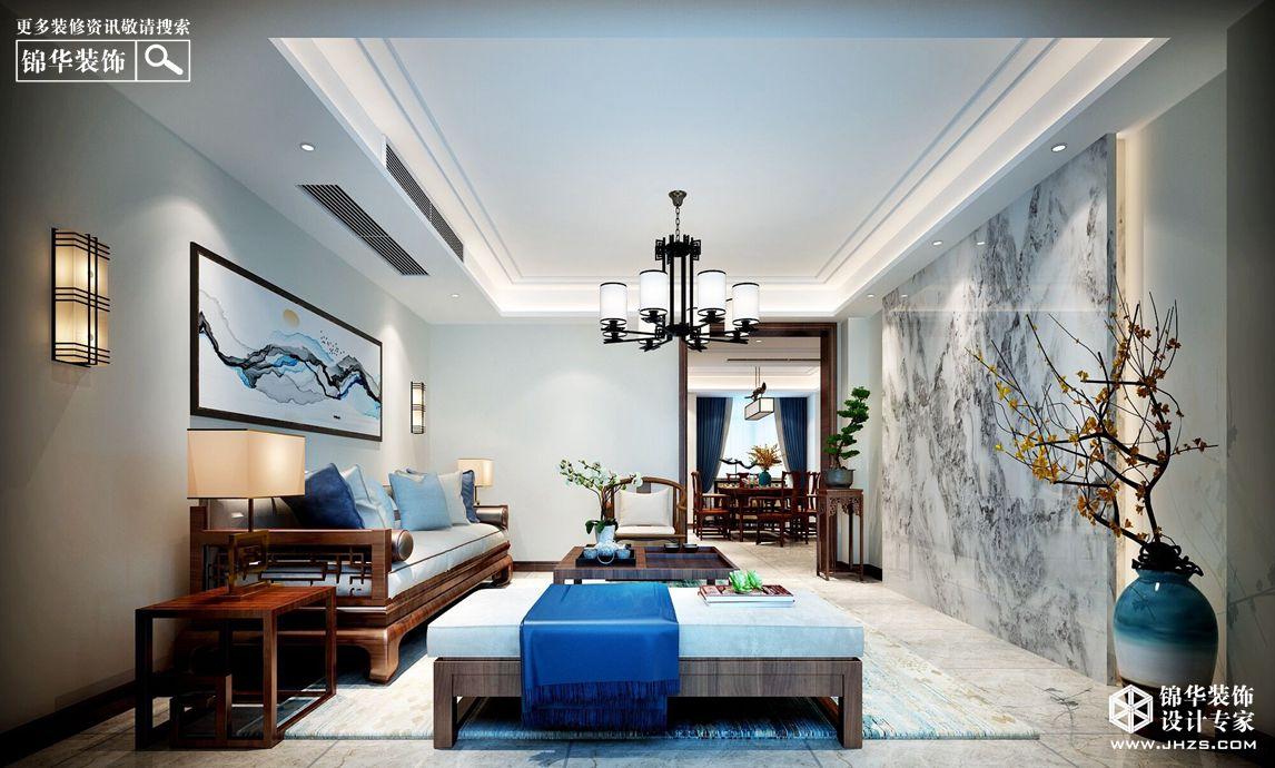 新中式风格-风尚米兰-三室两厅-143㎡-360°装修实景效果图