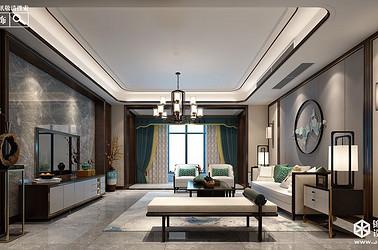 新中式-风尚米兰-三室两厅-206㎡