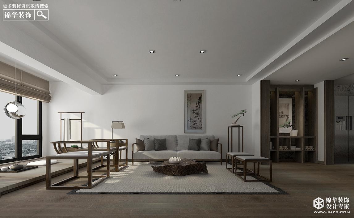 苏宁尊悦府邸140平方新中式风格实景