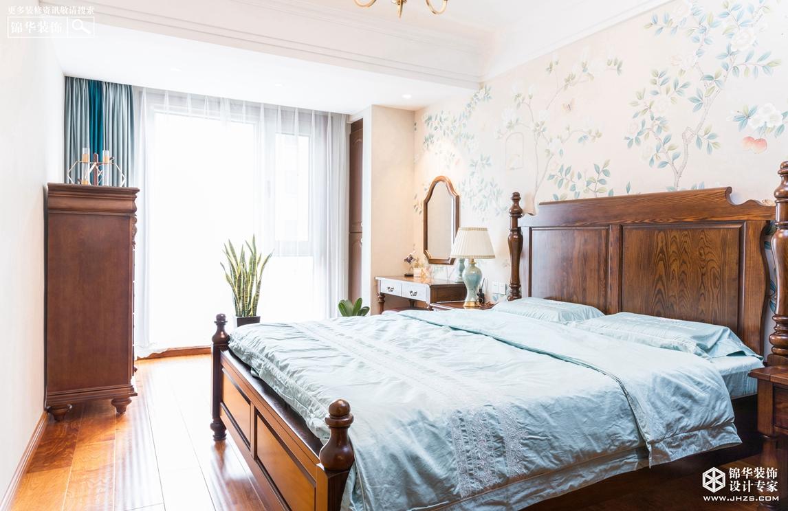 简约美式-绿地柏林公馆-三室两厅-140㎡装修-三室两厅-简美