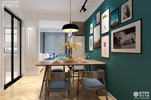 北欧风格-翠湖御景-三室一厅-143㎡-360°全景装修效果图