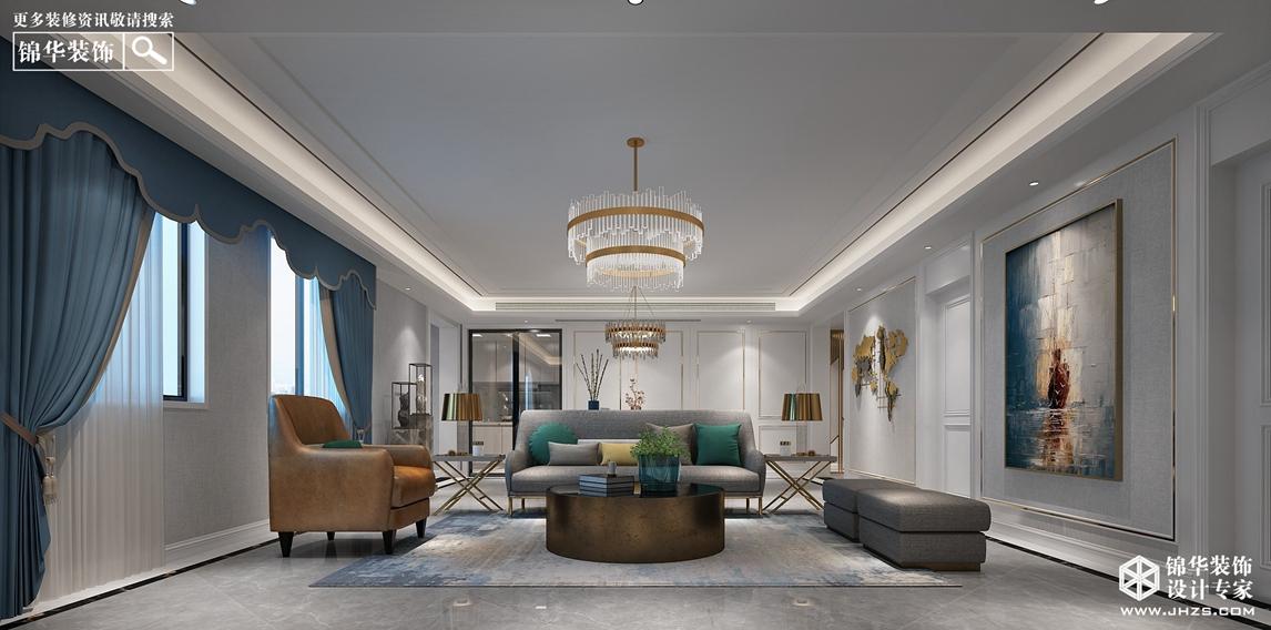 现代简约风格-国信云玺-四室两厅-190㎡-360°全景装修效果图