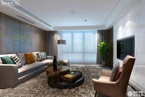 现代简约风格-锦绣湖畔-三室一厅-143㎡- 360°全景装修效果图