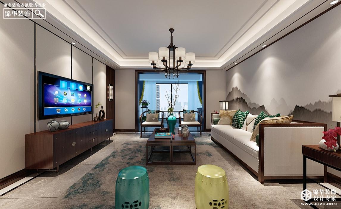 新中式风格-美的城-四室两厅-180㎡-360°全景装修效果图