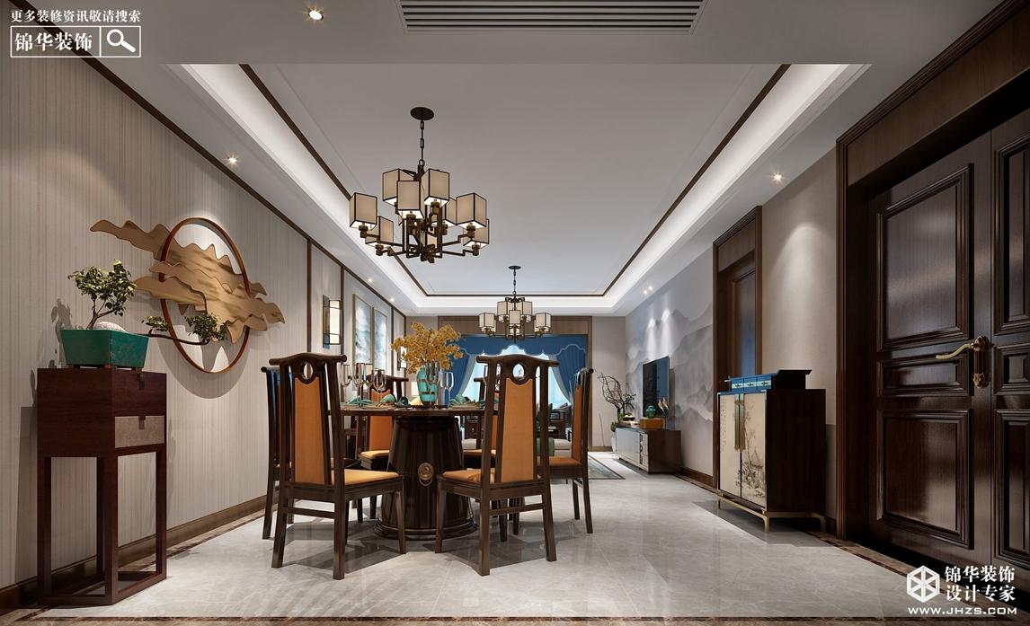 新中式风格-苏宁广场-两室一厅-140㎡-360°全景装修效果图装修-两室一厅-新中式