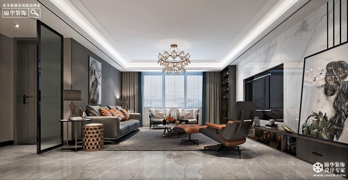 现代简约风格-南郊中茵城-四室两厅-180㎡- 360°全景装修效果图