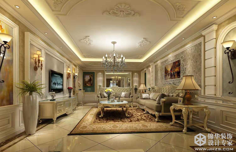 法式轻奢风格-云龙观邸-四室两厅-260㎡-装修实景效果图