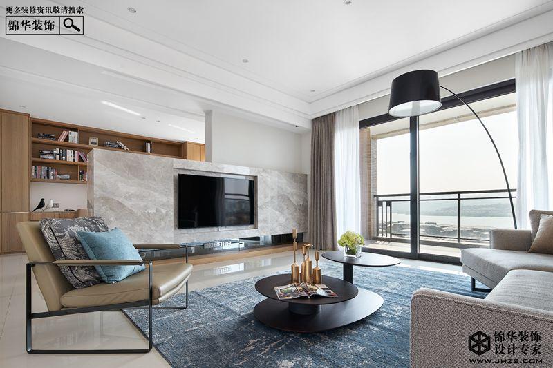 现代简约风格-绿地璀璨天城-三室一厅-135㎡-装修实景效果图