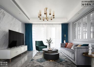美式风格-财富春天-三室两厅-145㎡