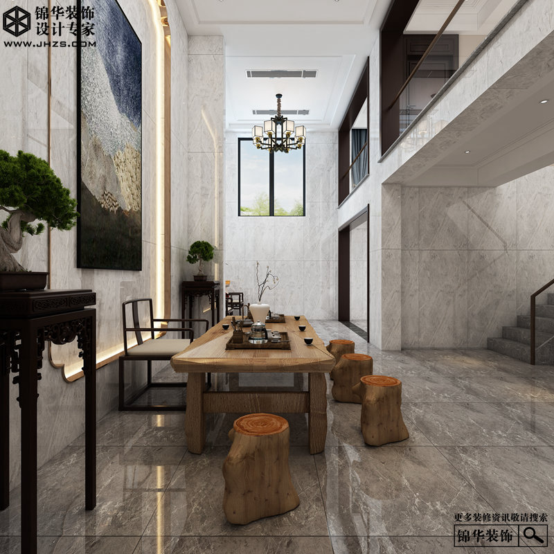 新中式风格-俪晶湾-大户型-260㎡-装修实景效果图装修-大户型-新中式