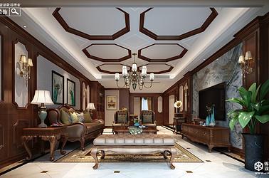 欧式古典-华润云龙湖悦府-三室两厅+地下室-300㎡