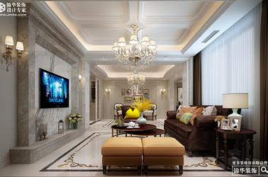美式风格-和平上东-三室两厅+地下室-350㎡