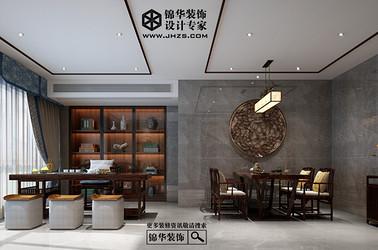 新中式-秀水华庭-四室两厅+地下室-350㎡