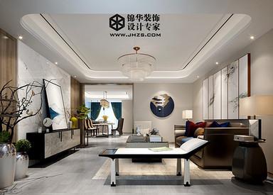 现代中式-风尚米兰-三室两厅两卫-180㎡