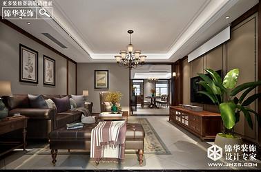 美式风格-风尚米兰-三室两厅-190㎡