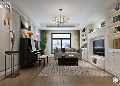 简美风格-海玥南山-三室一厅-138㎡-装修实景效果图
