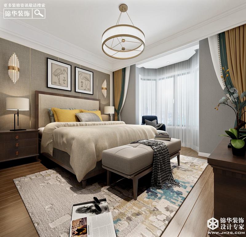 简美风格-海玥南山-三室一厅-138㎡装修-三室一厅-简美