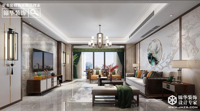 新中式风格-风尚米兰-大户型-200㎡-装修实景效果图