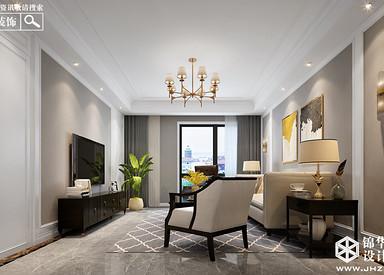 美式风格-紫薇公馆-两室两厅-150㎡-装修实景效果图