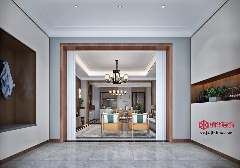 新中式风格-月亮湾-联排别墅-200㎡-装修实景效果图