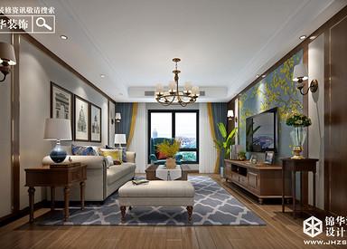 美式风格-海玥南山-三室一厅-138㎡-装修实景效果图