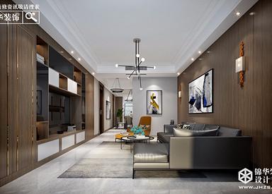 现代简约风格-紫薇公馆-三室一厅-190㎡-装修实景效果图